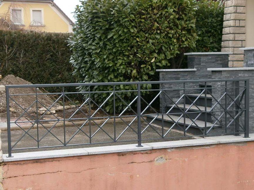 clôture en fer-galvanisé à chaud deco losange