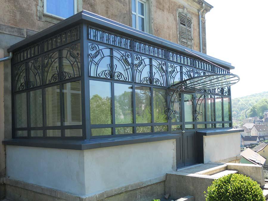 verri res d 39 atelier claustras marquises en inox fer forg acier verre cr ation 1538. Black Bedroom Furniture Sets. Home Design Ideas