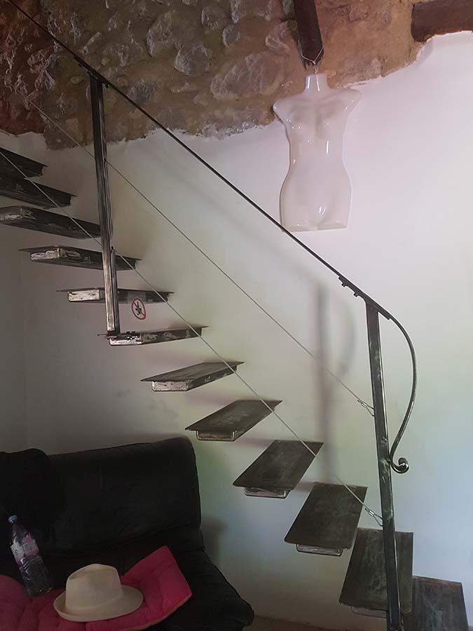escalier sur mesure acier brut