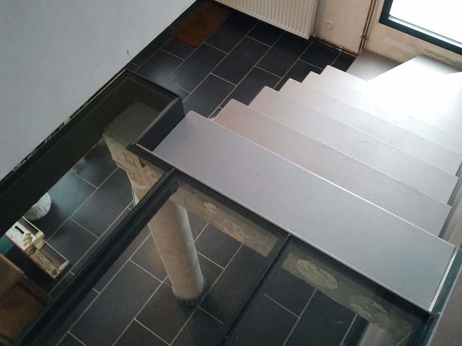 palier verre en mezzanine