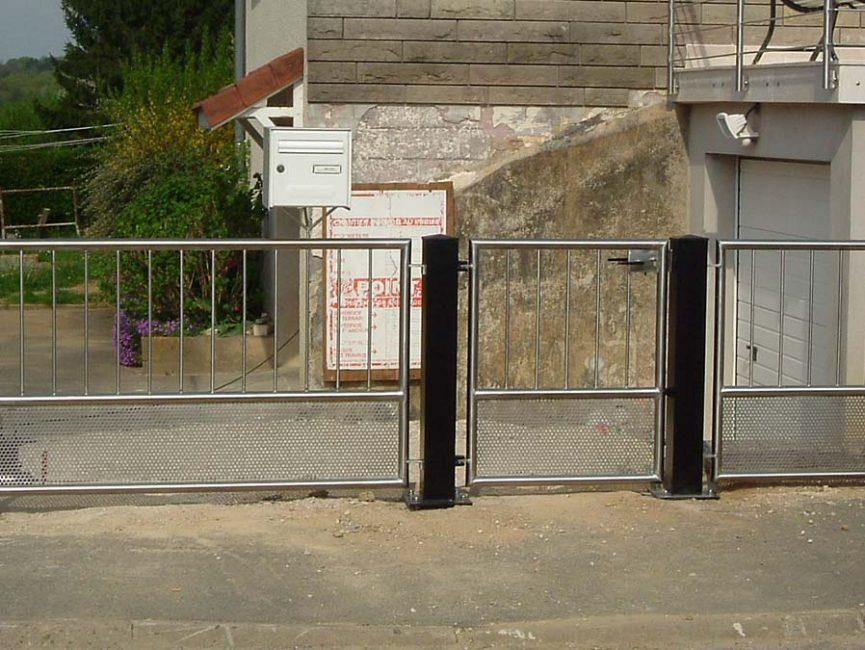 portail et portillon en inox perforé