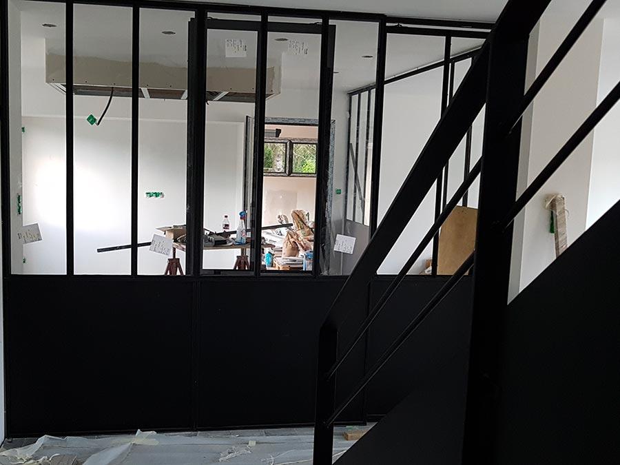 verrière et escalier tout metal
