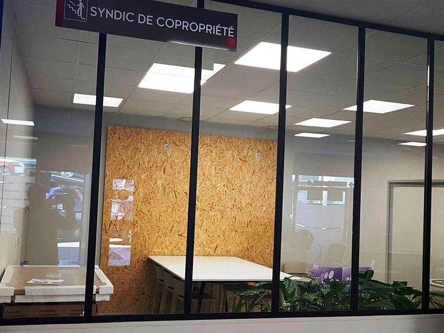 verrière intérieure pour bureau