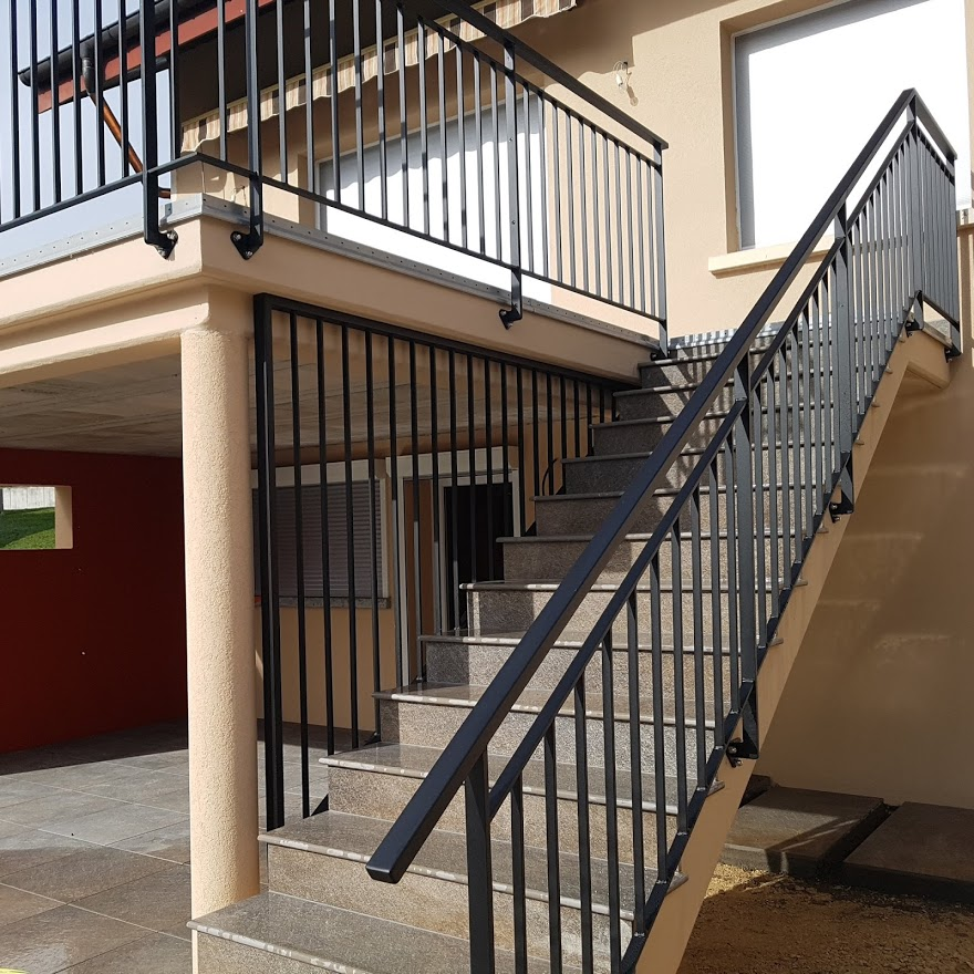 garde corps triangle sous-escalier