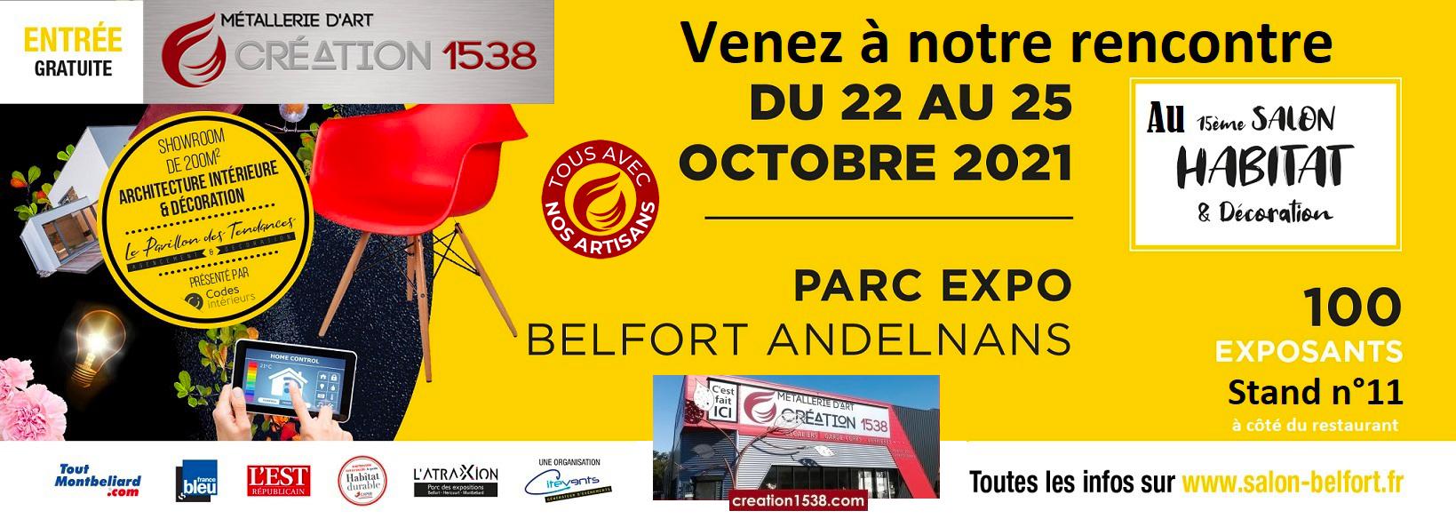participation au salon de l'artisanat 2021 à Belfort